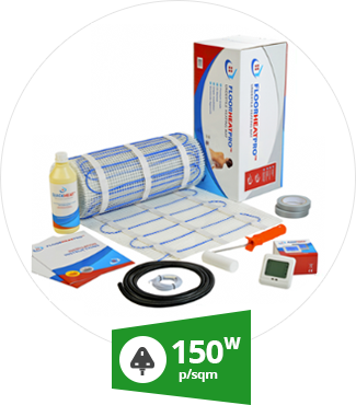 Why use 150w undertile heating mat kit