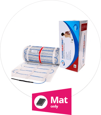 Why use a mat only undertile heating 150w mat kit